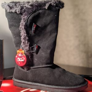 NEW! SONOMA GENUINE SUEDE LINED BLACK BOOTS SIZE 9